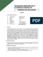 Silabo Hidraulica Aplicada 2011 i