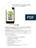 Quieres actualizar tu Samsung Galaxy S2 a la última versión Android 4.2