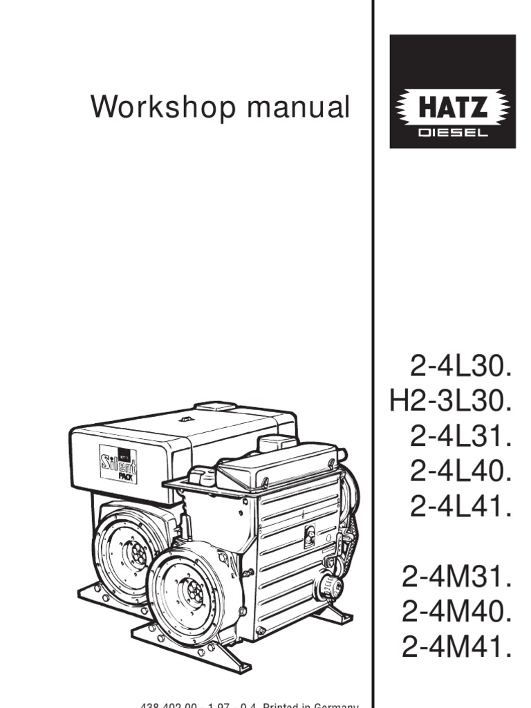 hatz 4l41c diesel workshop manual