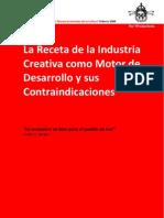 La receta de la industria creativa como motor de desarrollo y sus contraindicaciones.pdf