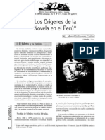 Velasquez Origenes de la novela en el Perú