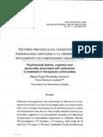 Factores Psicosociales, Cognitivas y de Personalidad Asociados a La Adherencia
