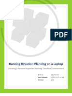 Running Hyperion Planning on a Laptop
