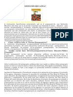 PRESUPUESTO DE UNA INSTITUCIÓN EDUCATIVA