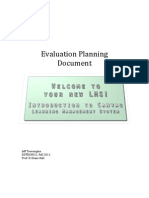 Introduction To Canvas LMS- Evaluation Planning