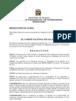 Resolucion No. 11-2011. Construccion y Afines. Refrendada