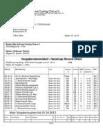 Heiberger, Robert - Handicap-Stammblatt