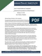 Testimony to Kansas Senate Judiciary Committee on SCR 1608, Constitutional Amendment on School Finance