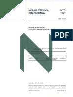 Norma NTC 1641 (Andamios Clasificación)
