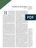 La teologia política de Jacob Taubes- Juan diego Gonzalez