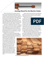Selecting Guitar Wood
