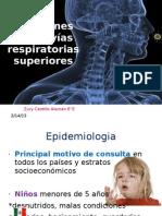 Infecciones  de las vías respiratorias superiores