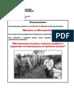 Convocatoria Revista Historia en Movimiento 2013