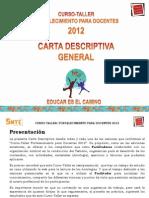 Carta Descriptiva General 2012