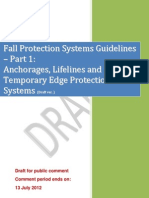 Fall Protection Systems Guidelines Part 1 - Anchorages Lifelines and Temporary Edge Protection Systems - Public Consult Copy
