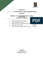MT0044 Assignment Winter 2012