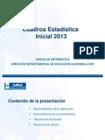 Estadistica Inicial 2013