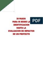 Los 39 Pasos del Proyecto - Jorge González Caro
