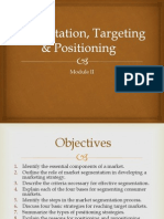 Segmentation Targeting Postioning