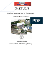 GATE 2013 Information Brochure