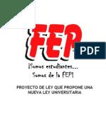 Propuesta Ley Universitaria Fep