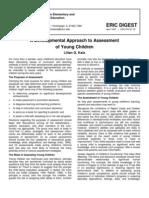 A Developmental Approach to Assessment