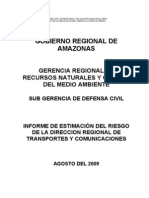 Estimacion de Riesgos DR Transportes- Agosto 2009