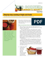 Step-By-step Canning of High-Acid Foods