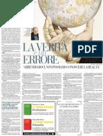 La verità è un errore. La filosofia di Carlo Sini mette in discussione il pensiero occidentale - La Repubblica 14.02.2013