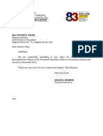 2012 PPO Annual Accomplishment Report for POPCOM