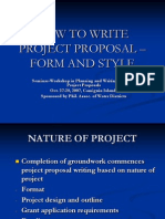 Writing Module 5 (Pp) - How to Write Project Proposal, Form and Style