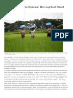 Economic Reform in Myanmar - The Long Road Ahead
