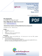 Kupang English Rp Daily Diving Prices, 2012