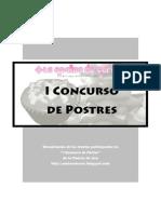 Recetas-concurso de Postres