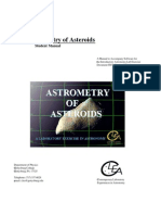 astrometry of asteroids