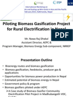 Session 5 - Biomass Gasification Rural Electrification Pilot Project Nepal_N R Dhakal