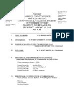 County Council Agenda 1/15/2009