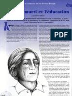 Krishnamurti et l'éducation, par Gisèle Balleys