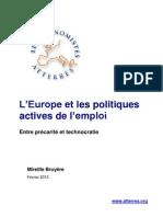 l'Europe Et Les Politiques Actives de l'Emploi