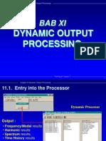 Bab 11 Dynamics Output Processing