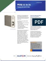 MVAJ relay manual Areva