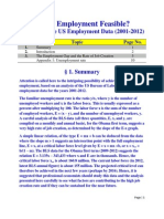 Is Full Employment Feasible? Analysis of the recent US Employment Data