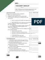 Checklist SOP