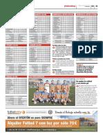 Publicación de las clasificaciones de las ligas Futbolcity en Superdeporte. Miércoles 13 de febrero 2013