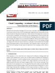 Cloud Computing Academic Library in Orissa