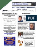 Wingate Univ Master Football Coach Flyer