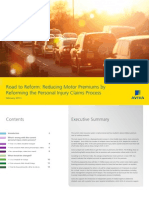 Road to Reform - Reducing motor premiums by reforming the personal injury claims process