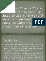 Comparative Study on Efficacy of Moderate Intensity Land Based Endurance Exercise & Moderate Intensity Water Based Endurance Exercise on Normal Young Individuals - Vishal Patle, Devayani Thakre