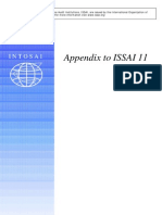 Appendix to ISSAI 11 E