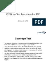 LTE Drive Test Procedure